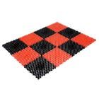 Коврик, 42х56 см Gräs, цвет красно-черный