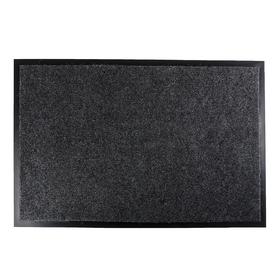 Коврик придверный влаговпитывающий Tuff, 60×90 см, цвет серый