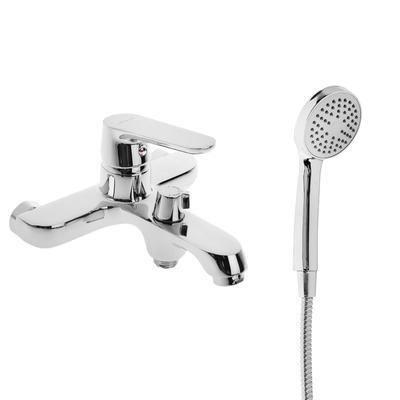 Cмеситель для ванны Accoona A6366, однорычажный, с боковым шаровым дивертором, силумин, хром, Фирма: Accoona, Цвет: Хромированный, Материал корпуса: Силумин, Купите на этой странице!