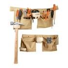 Поясная сумка для инструмента TRUPER POCA-13, кожа 1.8 мм, 13 отделений, 49х24 см