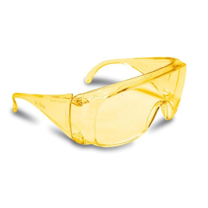 Защитные очки TRUPER LEN-SA, поликарбонат, УФ защита, защита от царапин, цвет янтарь
