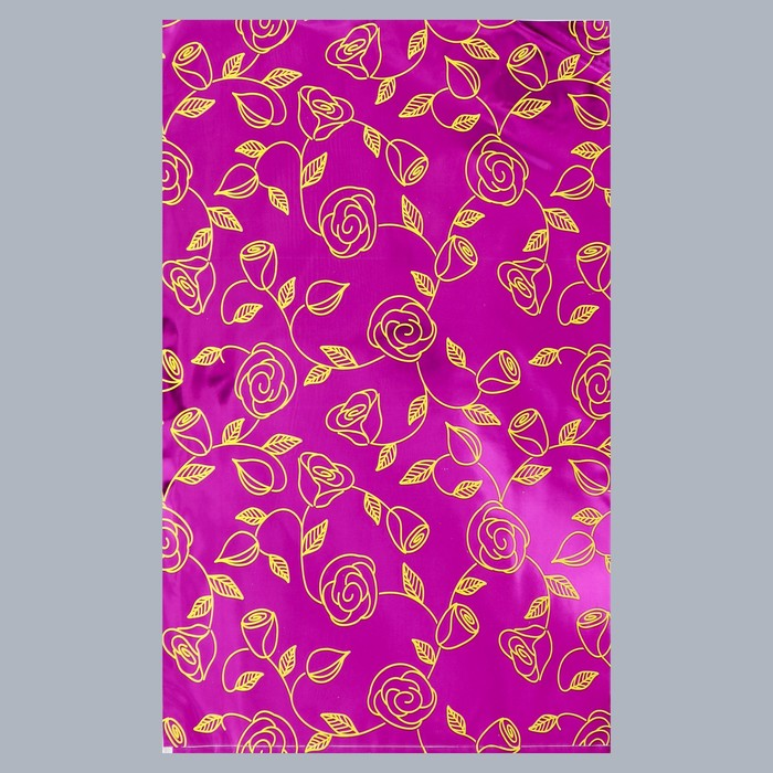"""Пакет подарочный """"Золотые розы"""", с клапаном, 25 х 32/5 см"""