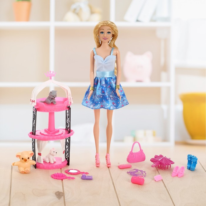 """Кукла модель """"Люси"""" в платье с аксессуарами, МИКС"""