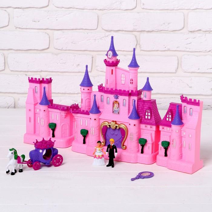 """Замок для кукол """"Волшебство"""" световые и звуковые эффекты, с аксессуарами"""
