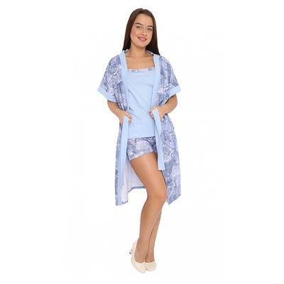 Комплект женский (халат, топ, шорты) М19 цвет МИКС, р-р 48