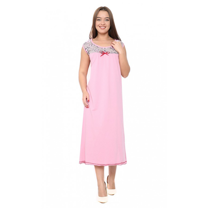 Сорочка женская М127 цвет розовый , р-р 58