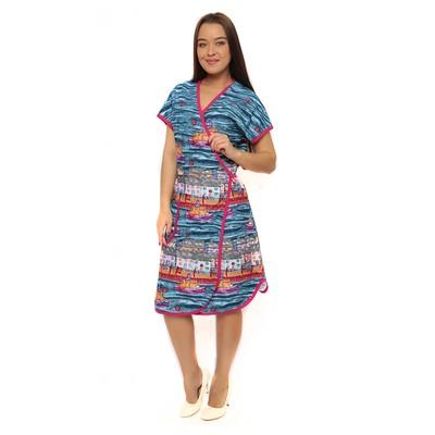 Халат женский запашной, цвет МИКС, размер 56