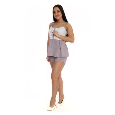 Комплект женский (топ, шорты) М63 цвет МИКС, р-р 46