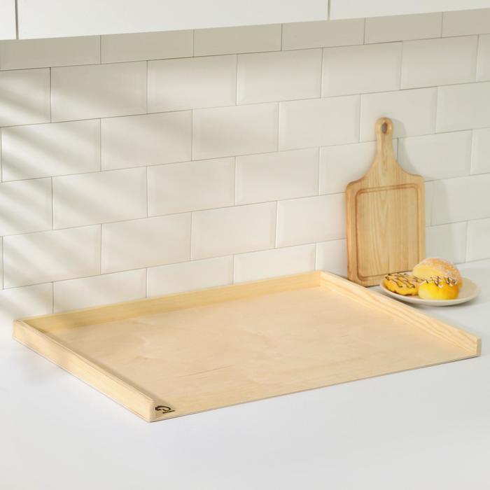 Доска пироговая с бортиком «Хозяюшка», берёза, 70×50×0,4 см - фото 7623613