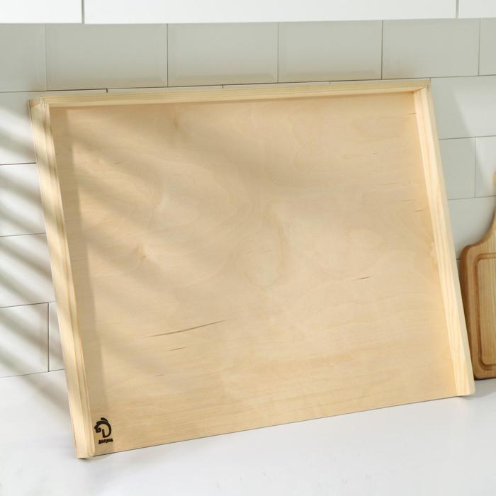 Доска пироговая с бортиком «Хозяюшка», берёза, 70×50×0,4 см - фото 7623615