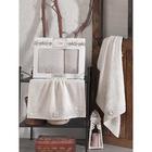 КМП в коробке SIKEL с вышивкой 50х90/70х140 2 пр. AFRODİT бежевый бамбук 440г/м2