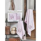 КМП в коробке SIKEL 3д с вышивкой 50х90/70х140 2 пр. FLORIDA розовый бамбук 440г/м2