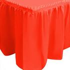 "Юбка для стола ""Делюкс"", красная, 75х400 см"