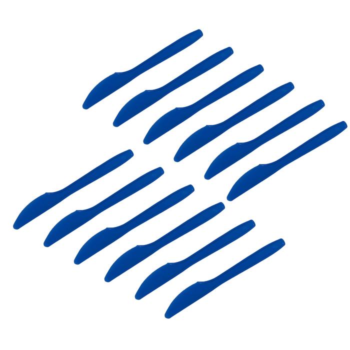 """Ножи пластиковые """"Делюкс"""", цвет: синий, набор 12 шт"""