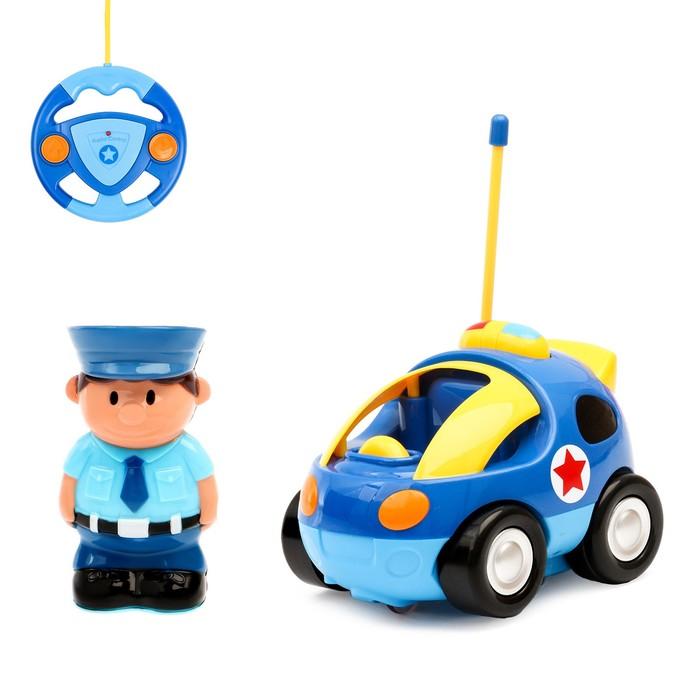 Машина радиоуправляемая «Полиция», световые и звуковые эффекты, работает от батареек