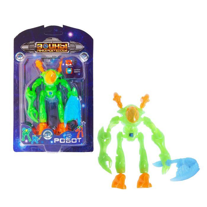 Робот-конструктор, световой, цвета МИКС