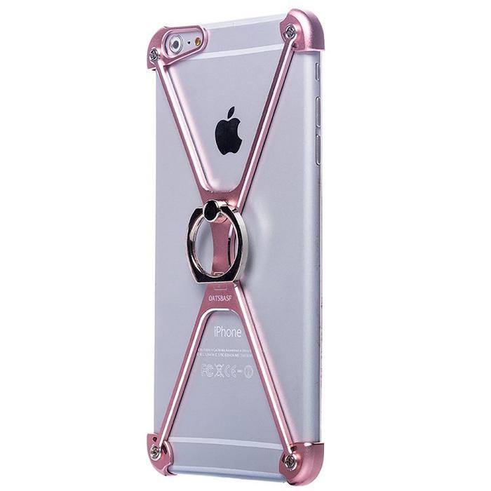 Чехол-экзоскелет Oatsbasf для Apple iPhone 7 Plus, розовый