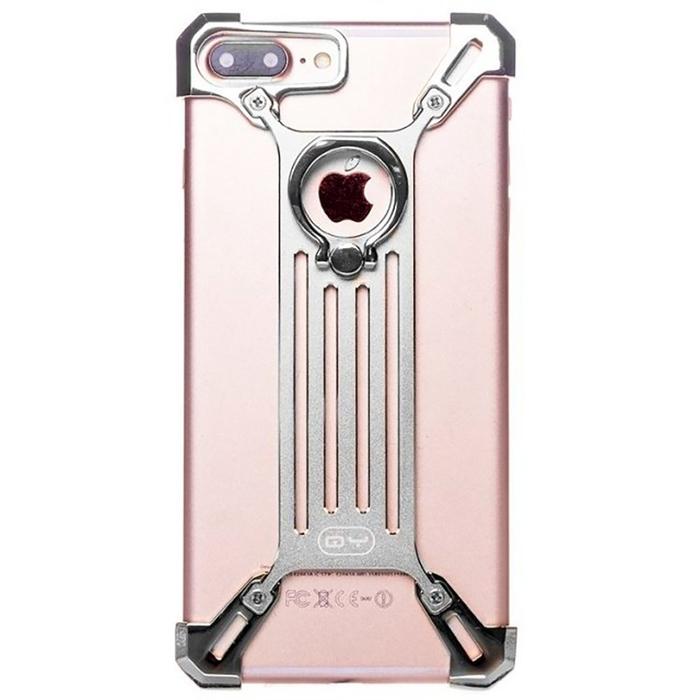Чехол-экзоскелет Qiyang для Apple iPhone 6 Plus, серебряный
