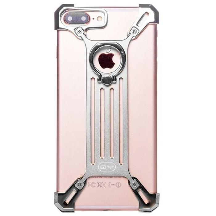 Чехол-экзоскелет Qiyang для Apple iPhone 7 Plus, серебряный