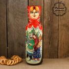Штоф «Девушка», красный платок, длинное горло, гуляния, 0,8 л, 42 см