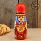Штоф «Матрёшка с самоваром», красная шапка, 0,05 л, 15 см