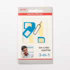 Адаптер для SIM-карты Activ 3 в 1, nano/micro/mini, синий