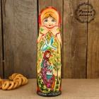 Штоф «Матрёшка - барыня», красно-золотой платок, сказка, 0,5 л, 33 см