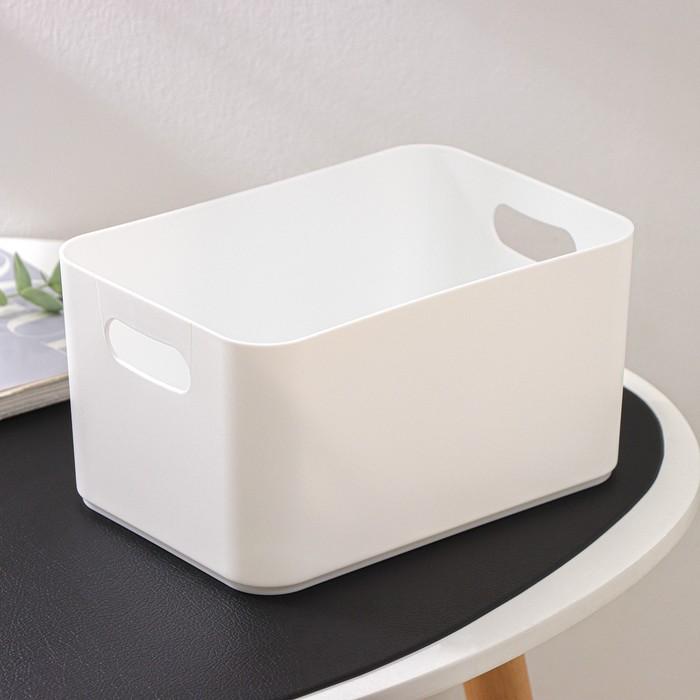 Корзина для хранения 2,3 л Joy, цвет снежно-белый
