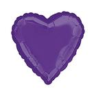 "Шар фольгированный 18"" ""Сердце"", металл, new purple"