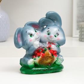 """Копилка """"Кролики с клубникой 16см"""