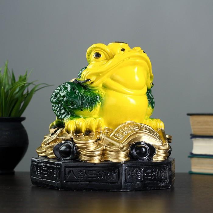 "Копилка ""Денежная жаба"" жёлто-зелёная"