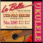 Комплект струн для укулеле La Bella 200 Uke-Pro сопрано