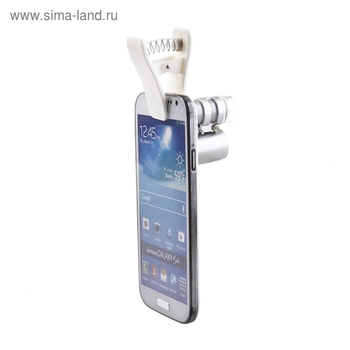 Микроскоп Kromatech 60x мини, подсветкой (2 LED) и ультрафиолетом (9882-W)