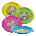 Тарелка детская, диаметр 18 см, для вторых блюд, от 4 мес., цвета МИКС