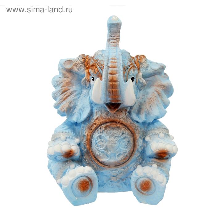 """Копилка """"Слон с шариком"""" голубая"""