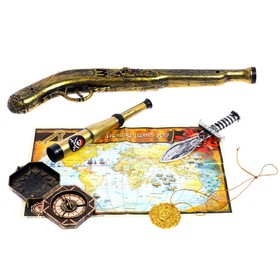 Набор пирата «Стрелок», 5 предметов, карта
