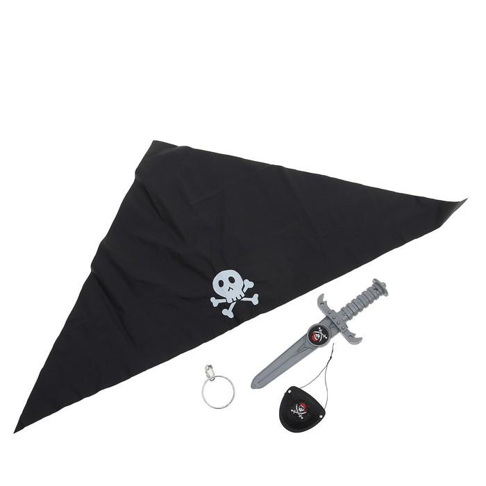 Набор пирата «Черная бандана», 4 предмета - фото 76302260