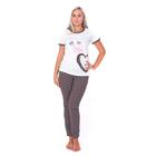 Комплект женский (футболка, брюки) ТК-475 цвет коричневый, р-р 52
