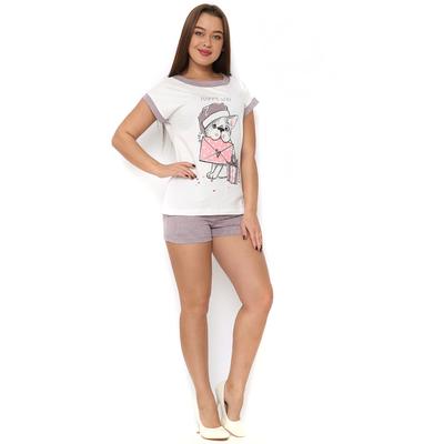 Комплект женский (футболка, шорты) ТК-604 цвет МИКС, р-р 42