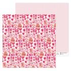 Бумага для скрапбукинга I love you, 30.5 × 30.5 см, 180 г/м