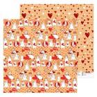 Бумага для скрапбукинга «Мишки», 30.5 × 30.5 см, 180 г/м