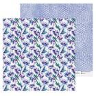 Бумага для скрапбукинга «Фиолетовые цветы», 30.5 × 30.5 см, 180 г/м