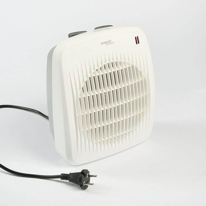 Тепловентилятор Scarlett SC-FH53016, 2000 Вт, вентиляция без нагрева, белый