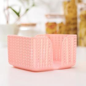 Салфетница IDEA «Вязание», цвет розовый