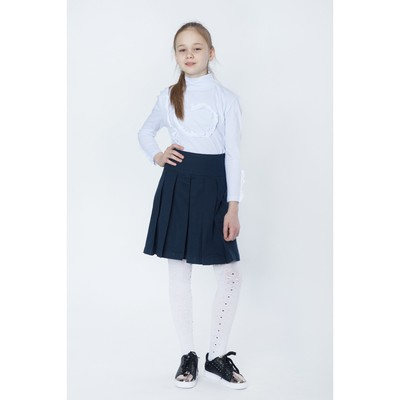 Водолазка для девочки, рост 140-146 см, цвет белый