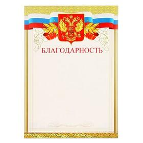 Благодарность 'Универсальная' символика РФ Ош