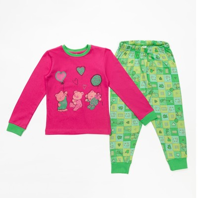 Пижама для девочки, рост 98-104 см, цвет розовый 10603