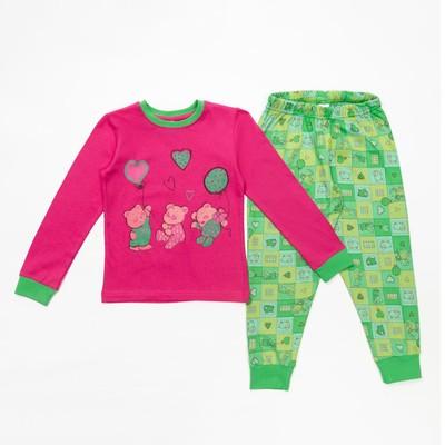 Пижама для девочки, рост 140-146 см, цвет розовый