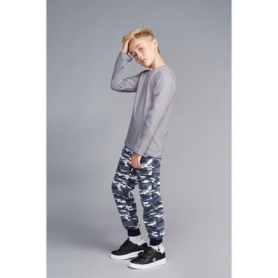 Джемпер для мальчика, рост 116-122 см, цвет серый