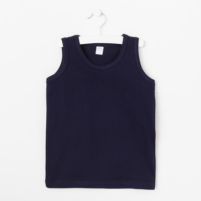 Майка для мальчиков, цвет синий, 128-134 см (36)
